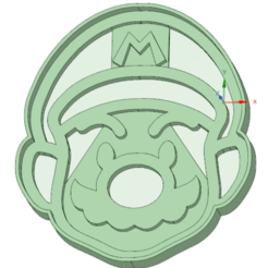 Download 3D printer designs Mario Bros cookie cutter, osval74