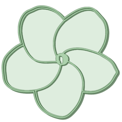 F2_70_e.png Download STL file Flower 2 cookie cutter 50mm / 70mm • Design to 3D print, osval74