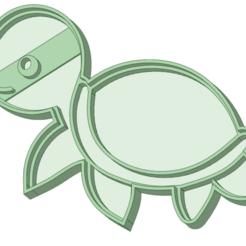 Tortuga bebe_e.png Télécharger fichier STL Bébé tortue de mer à l'emporte-pièce • Design à imprimer en 3D, osval74