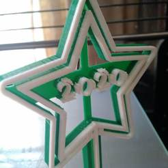 Download 3D printing templates Christmas Tree Star, osval74