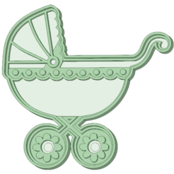 Download 3D printing designs Stroller 1 baby cookie cutter, osval74