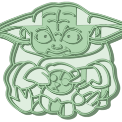 BY4_e.png Download STL file Baby Yoda 5 cookie cutter • 3D printing object, osval74
