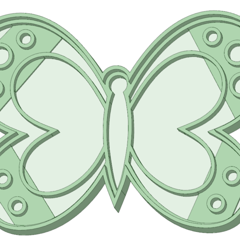 STL Butterfly cookie cutter, osval74