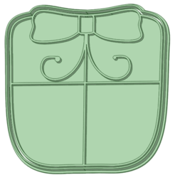 Regalo_e.png Download STL file Christmas gift 2 cookie cutters • 3D printable object, osval74