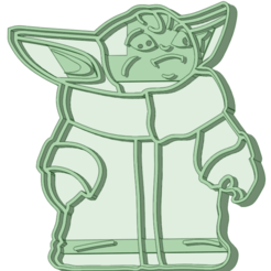 BY1_e.png Download STL file Baby Yoda 2 cookie cutter • Template to 3D print, osval74