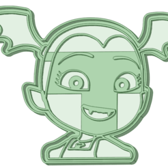 Descargar modelos 3D para imprimir Vampirina cookie cutter, osval74