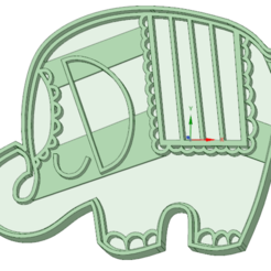 3D printing model Elephant 1 cookie cutter, osval74
