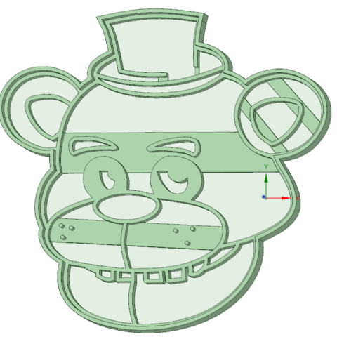 Impresiones 3D Freddy cookie cutter, osval74