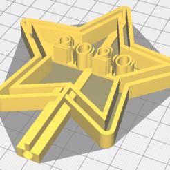 Download 3D printing templates Christmas Tree Star, osval74