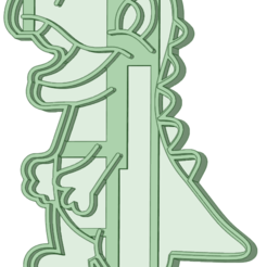 Dino 5_e.png Download STL file Dino 5 cookie cutter • 3D print model, osval74