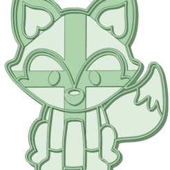 Zorro_e.png Download STL file Fox 3 Cookie Cutter • 3D printer model, osval74