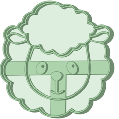 Cara_e.png Download STL file Sheep face 1 cookie cutter • Template to 3D print, osval74