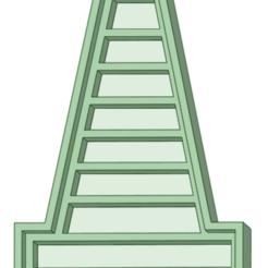 Cono 1_e.png Télécharger fichier STL Pack x 3 cônes signalant l'emporte-pièce • Modèle à imprimer en 3D, osval74