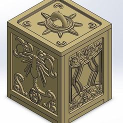 STL file Box Golden Scorpio, rsoledad23