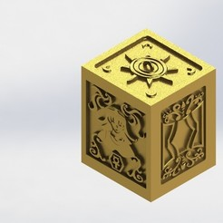STL file Box Golden Virgo, rsoledad23