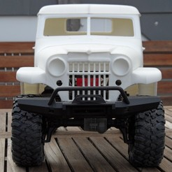 SAM_4381.JPG Télécharger fichier STL RC Body Jeep Station Wagon Pickup balance crawler 1/10 • Plan pour impression 3D, VeloRex