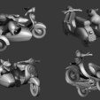 Download free 3D model Bold Machines Presents Margo's Scooter and Sidecar, boldmachines
