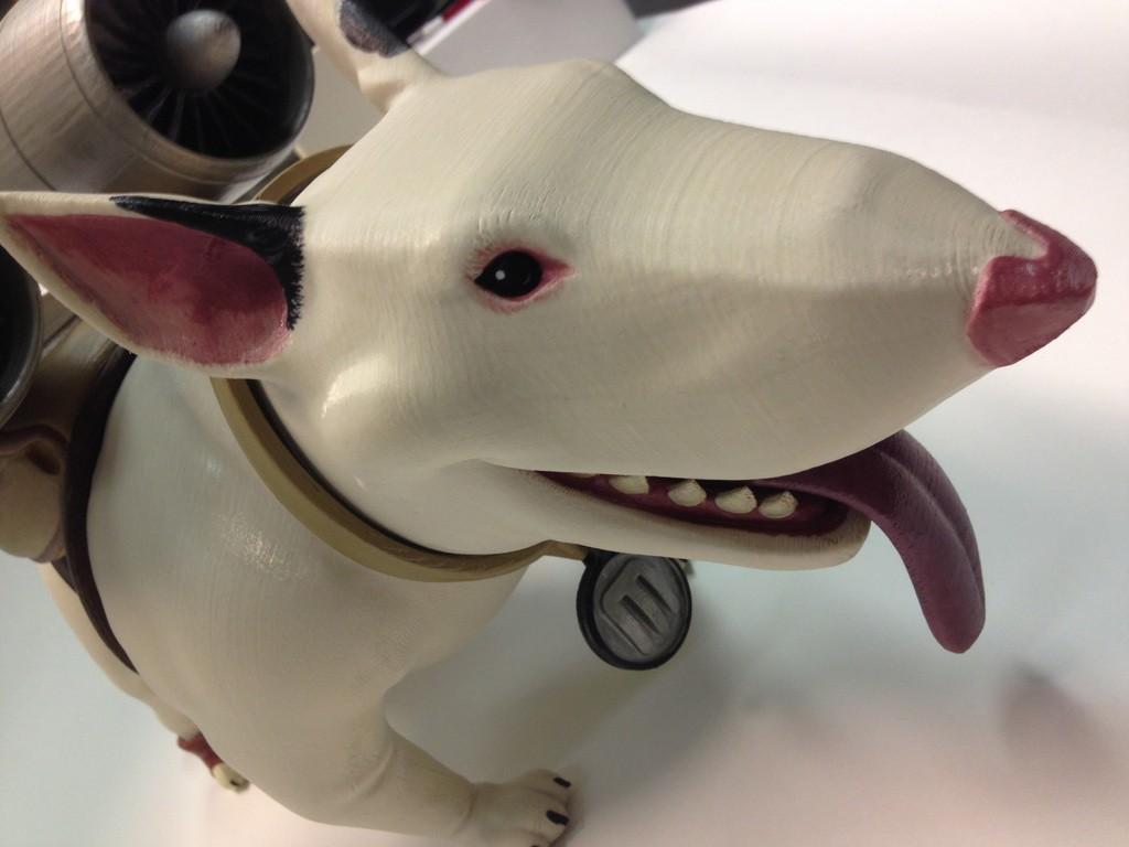 Eddie_Head_display_large.jpg Download free STL file Bold Machines: Margo's Dog named Eddie • 3D printer model, boldmachines