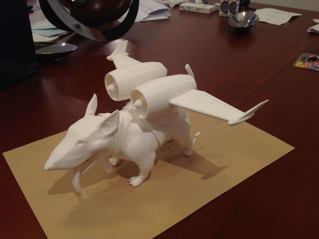 Dog6_display_large.jpg Download free STL file Bold Machines: Margo's Dog named Eddie • 3D printer model, boldmachines