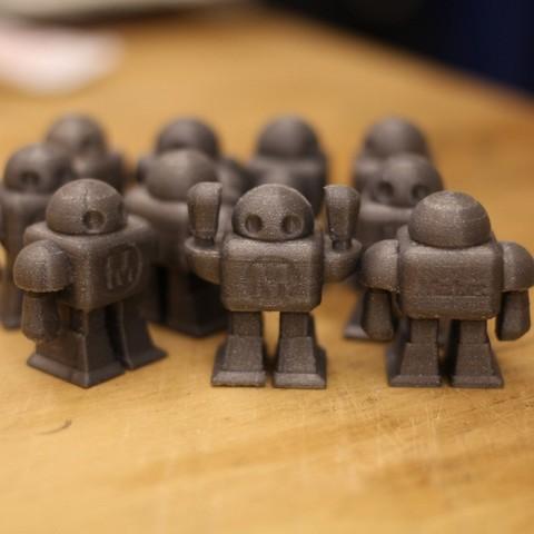 Robot_Arms_Up_display_large.jpg Download free STL file Maker Faire Robot • 3D print design, MAKE