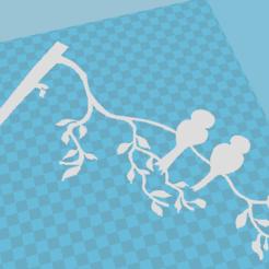 Free 3D printer model Birds in a branch, paalvarados