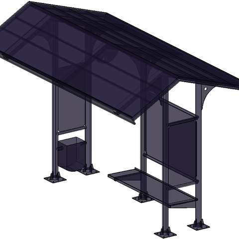 Free 3D model BUS STOP, paalvarados