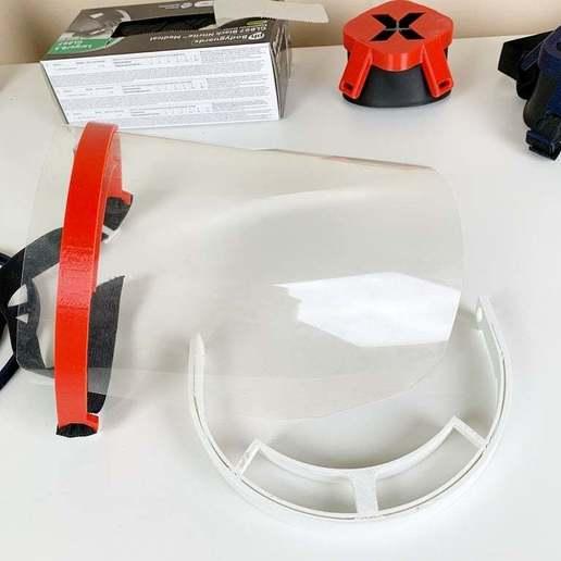 IMG_9285.jpg Télécharger fichier STL gratuit Covid-19 Écran facial - simple à imprimer • Plan à imprimer en 3D, hessevalentino