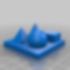 test_print_multy.stl Télécharger fichier STL gratuit Plaque de base 50 mm pour l'impression test PLUS DE FORMES • Design imprimable en 3D, hessevalentino