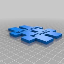 Télécharger plan imprimante 3D gatuit Porte-clés WITTNER rulez, hessevalentino