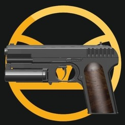 Capture8.JPG Download STL file Carnwennan Pistol: Kingsman Pistol • 3D printable model, Gothicart