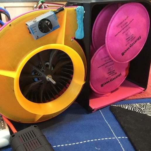 Download gratis 3D-printersjablonen Powered Air Purifying Resperator Air Pack, drewrokebythomas
