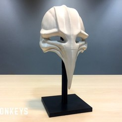 93ab9f3f2558fffe7780147ef614e360_display_large.jpg Download free STL file 12 Monkeys - Plague Mask • 3D printer object, SYFY