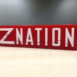 Download free 3D printer files Z Nation - Main Title Logo, SYFY