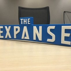 Download free 3D printing templates The Expanse – Main Title Logo, SYFY