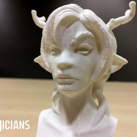 67d5cdd903bb1ded5a6ec7c3b8092ad4_display_large.jpg Download free STL file The Magicians - The White Lady • 3D printable object, SYFY