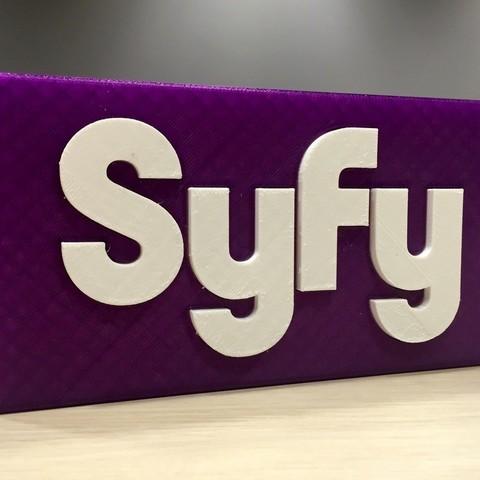 Plan imprimante 3D gatuit Logo Syfy, SYFY