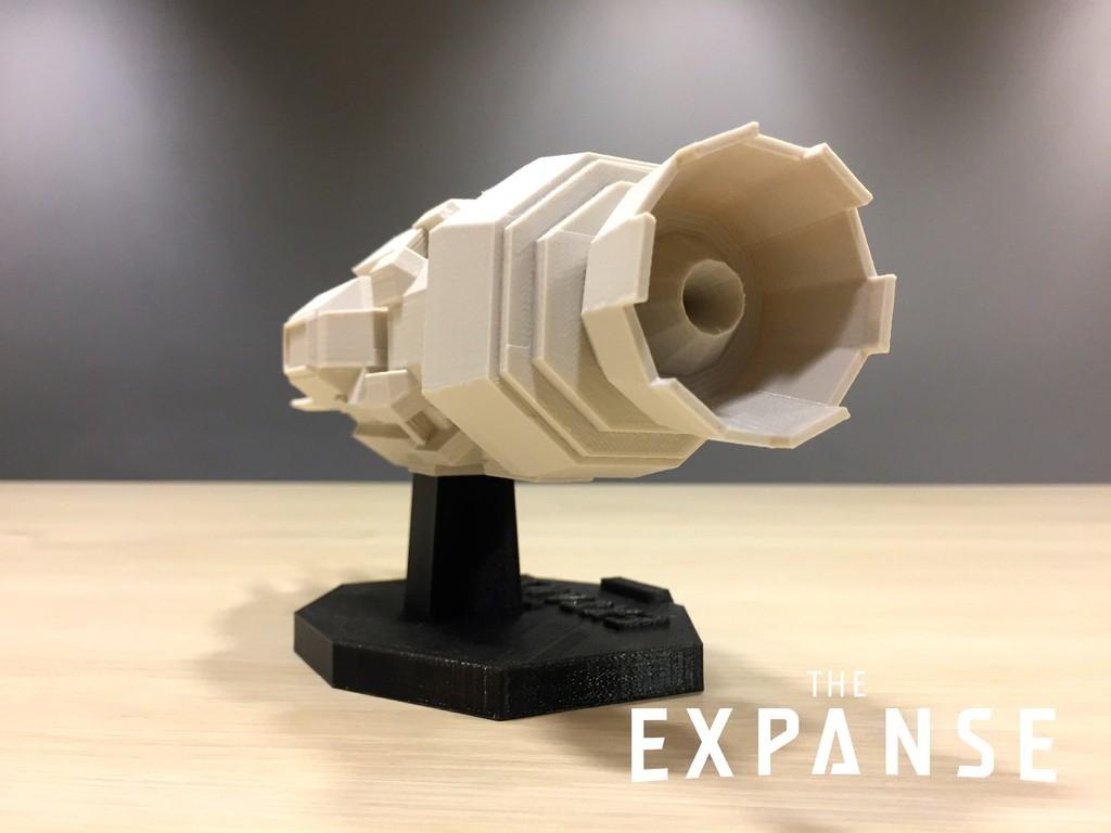 efa59dbf87b6411075ae81fd62d0ea0b_display_large.jpg Télécharger fichier STL gratuit The Expanse - The Rocinante v2.0 • Objet pour impression 3D, SYFY