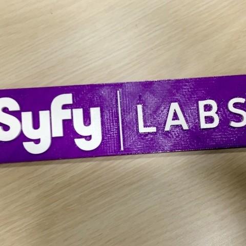 Download free 3D printer files Syfy Labs Logo, SYFY