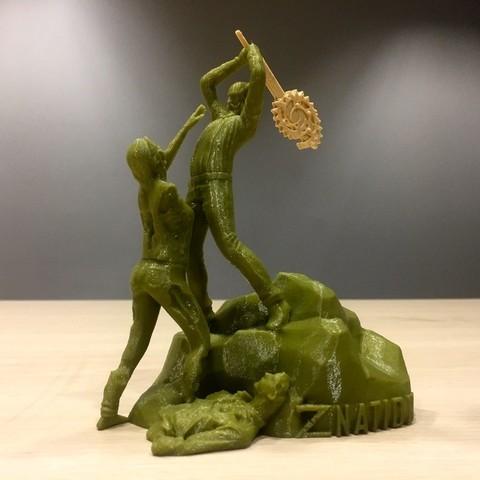 Download free 3D printer templates Z Nation - Doc vs Zombie Statue, SYFY