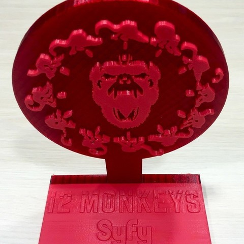 2d920943f4f09fa27b1c2e32a6fd95d0_display_large.jpg Download free STL file 12 Monkeys - Army of the 12 Monkeys Symbol • 3D printer object, SYFY