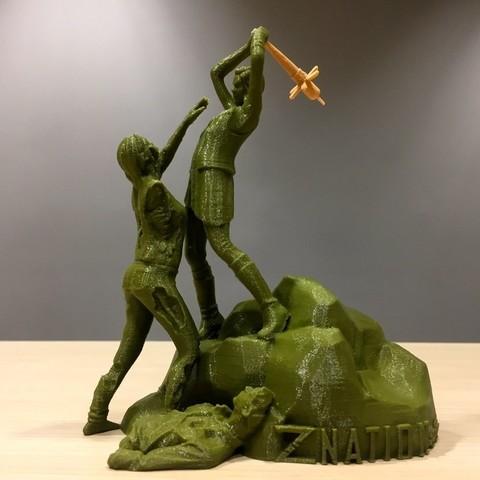 Download free 3D printer designs Z Nation - Addy vs Zombie Statue, SYFY