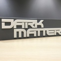 Download free 3D printing templates Dark Matter - Main Title Logo, SYFY