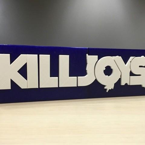 Download free 3D printer model Kill Joys - Main Title Logo, SYFY