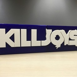 Free 3D print files Kill Joys - Main Title Logo, SYFY