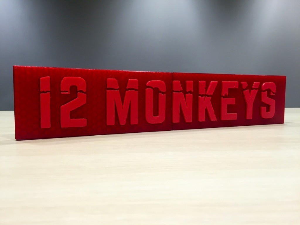 2c297226412490692cb0b9102696df8c_display_large.jpg Download free STL file 12 Monkeys - Main Title Logo • 3D print template, SYFY