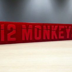 Download free 3D printing files 12 Monkeys - Main Title Logo, SYFY