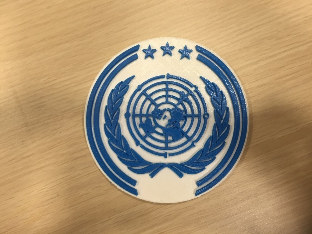 IMG_3180_display_large.JPG Download free OBJ file The Expanse – United Nations Logo • Model to 3D print, SYFY