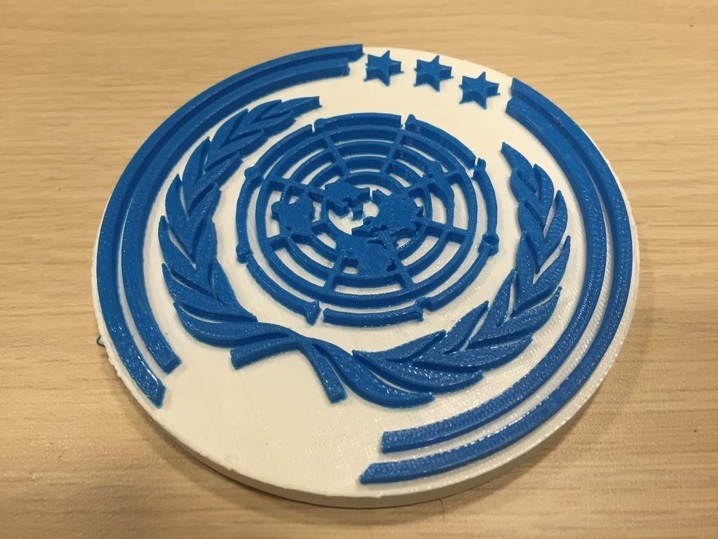 IMG_3181_display_large.JPG Télécharger fichier OBJ gratuit The Expanse - Logo des Nations Unies • Objet à imprimer en 3D, SYFY