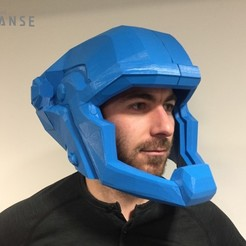 Download free 3D printer designs The Expanse - Martian Space Helmet, SYFY