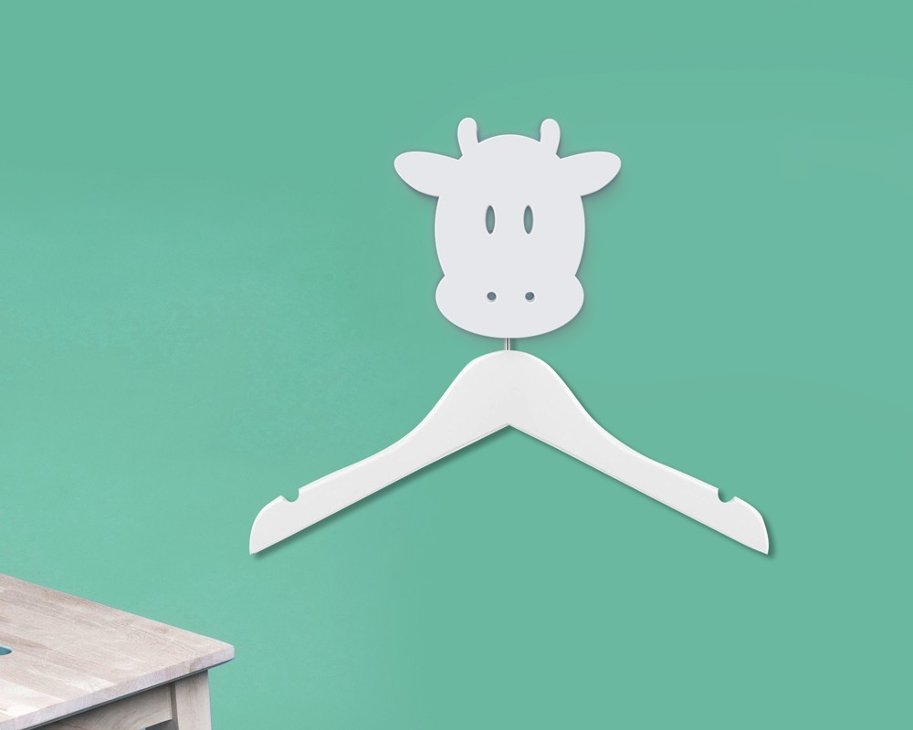 vache-ferme-cintre-photo-produit.jpg Download free STL file Cow hanger holder - Coat hanger - Hook for animals - Coat hanger - wall hanging - wall decoration • Template to 3D print, atelier-cubic
